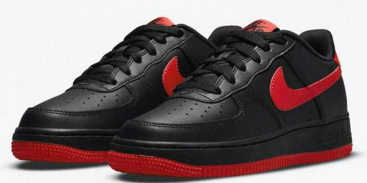 """Stylish Kids Nike Air Force 1 """"Bred"""" Arrives On July 21, 2021"""